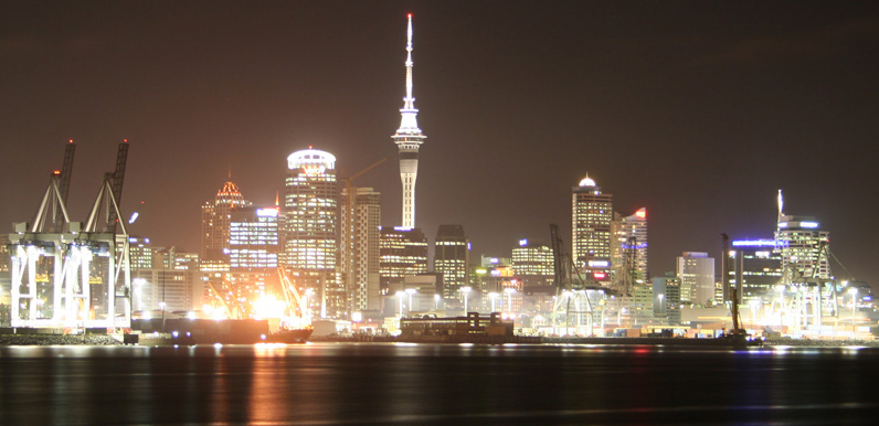 Auckland CBD at Night, New Zealands Largest CBD